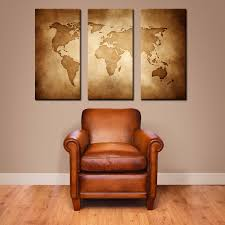 World Map Home Decor Canvas Vintage World Map Large Canvas Art Large Wall