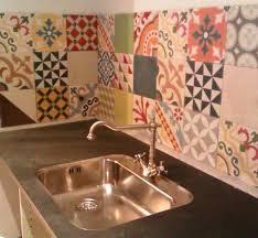 wall tile patchwork mediterranean kitchen