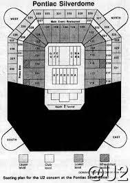 U2 Seattle Seating Chart U2 Concert Apr 30 1987 Pontiac Silverdome At Pontiac Mi