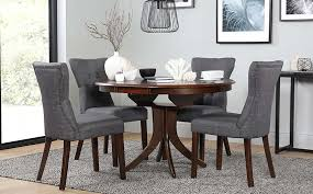 best dining table 6 chairs from hudson round dark wood extending dining table and 6