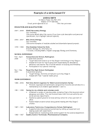 Skills Based Resume 9 Examples Cv Curriculum Vitae Experience