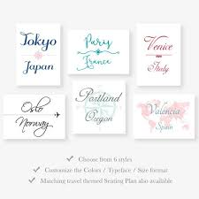 Etsy Table Seating Chart Wedding Table Names Printable Travel Theme Seating Chart Table Cards World Map Country City Table Numbers Jpg Pdf File Digital Download