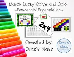 March Lucky Solve And Color Multiplication And Order Of