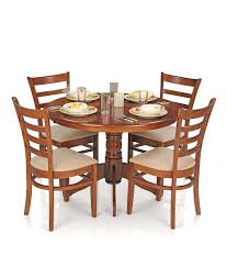 graceful dining room furniture acacia wood for 8 round mirror beach style standard varnished made in the usa trestle bronze medium 4 chair dining table set