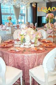 big c sequin round tablecloth premium collection gold rose tablecloths