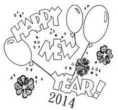 Chart On Happy New Year 30 Best New Year Coloring Page Images New Year Coloring