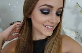 navy blue silver smokey eye makeup tutorial you