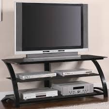 Unique Tv Stands Furniture Unique Tv Television Stands With Black Teak Curve