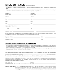 free bill of sale form for car free kansas vehicle bill of sale form download pdf word