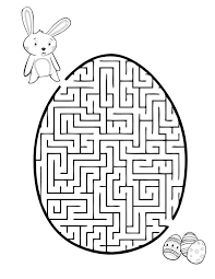 Easter Egg Maze Free Printable Coloring Pages Easter Printable