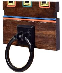 unravel india towel holder wooden towel ring