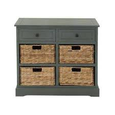 wooden office storage. Blue Gray Wooden Cabinet With Four Wicker Baskets Office Storage O