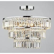 row5450 rowena 3 light modern ceiling light semi flush polished chrome finish