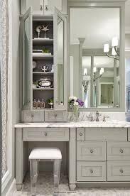 bathroom cabinet ideas furniture. gray bath vanity with lucite stool - transitional bathroom cabinet ideas furniture