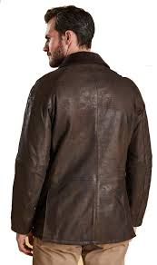 barbour mens leather ashby jacket brown mlt0084br59