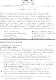 Resumes For Property Managers Assistant Property Manager Resume