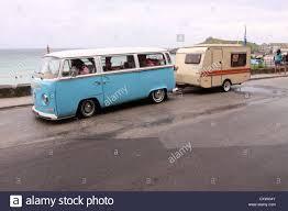 Small Car Camper Camper Van Towing Car Stock Photo Royalty Free Image 37961255