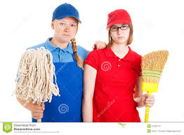 teen jobs serious workers stock image image  teen jobs serious workers