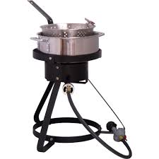 king kooker 54 000 btu bolt together propane gas outdoor cooker with low profile 7 qt