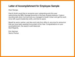 employee accomplishment report sample 5 sample of report letter appeal leter
