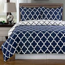 image of simple solid navy blue comforter