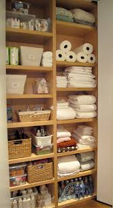 amusing small spacer organizer with built in linen closet cabinet without door as custom cabinet organizer designs