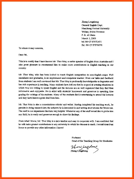 College Recommendation Letters Stunning Bunch Ideas Of Examples Of College Recommendation Letters From