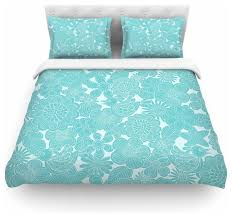 julia grifol turquoise birds aqua blue duvet cover cotton twin contemporary