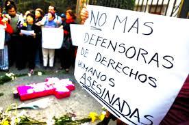 Resultado de imagen para colombia asesinados de lideres de derechos humanos