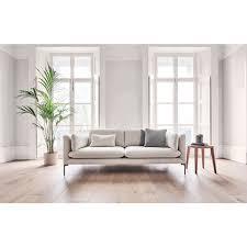 douglas low arm three seater sofa