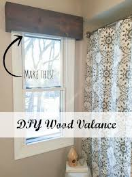 diy wood valance an inexpensive and easy window treatment sypsie designs
