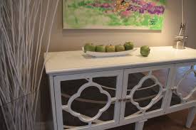 mirror hall table. White Hallway Console Table With Mirrored Quatrefoil Detail. Interior Design By Jil Sonia McDonald Of Mirror Hall M