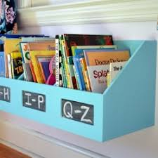 repurpose an organizer file bin into a kids bookshelf with a little customization and paint