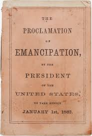 「Emancipation Proclamation first edition written」の画像検索結果