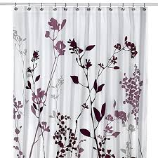 Reflections Purple Fabric Shower Curtain Bed Bath & Beyond