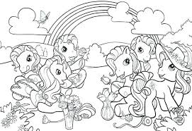 Pony Coloring Book Onefranklintowercom