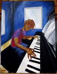 painting the piano man by lauraphay
