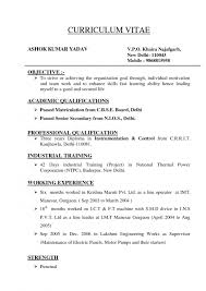 How To Type A Curriculum Vitae Filename My College Scout