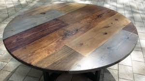 rustic round farm table