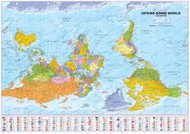 upside down  world map  political world maps  world maps