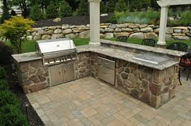 outdoor kitchen designed with built in bbq