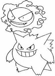Small Picture Gengar Pokemon Coloring Pages sketch template LineArt Pokemon