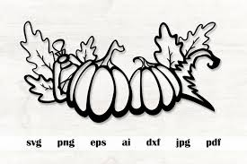 Set of 12 halloween svg digital download files for use with silhouette and cricut cutting machines. Pumpkins Svg Halloween Svg Fall Svg Png Eps Vector Cut 928631 Cut Files Design Bundles