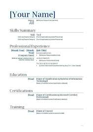 How To Make A Resume On A Mac Magnificent Resume Templates Basic Businessdegreeonlineco