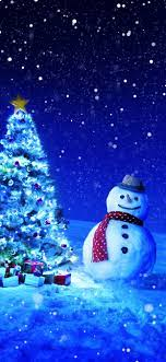 Christmas tree, gifts, snowman, winter ...