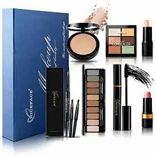dels about 7pcs makeup palettes gift set bundle all in one kit includes eyeshadow pressed