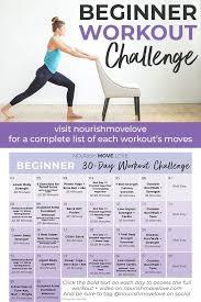 Total Body Gym Workout Chart Beginner Workout Plan 30 Day Workout Calendar Nourish