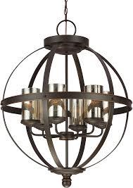 seagull 3110406 715 sfera modern autumn bronze mini chandelier light loading zoom