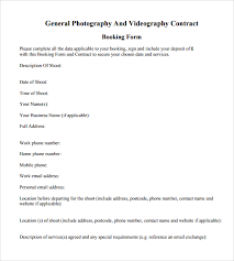 wedding videography contract template