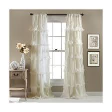 lush decor nerina ivory 84 x 54 inch window curtain single panel 48 panel curtainsrod pocket